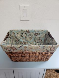 """Pretty Lined Basket (15"""" Wide x 7 1/2"""" Tall)"""