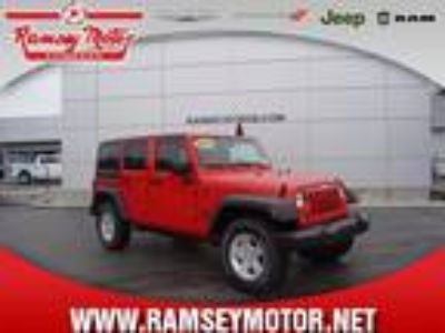 2017 Jeep Wrangler Unlimited Red, 12 miles
