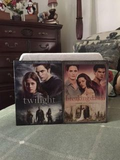 """REDUCED - LIKE NEW copies of """"Twilight (Two disc special edition)"""" & """"Twilight Breaking Dawn (Two disc special edition-Part 1)"""" $7.00"""
