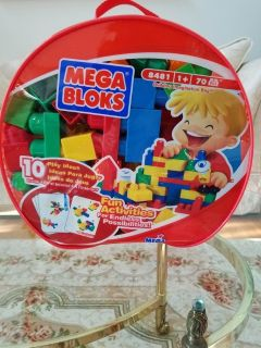 Mega Bloks Maxi Classic Large Building Blocks Bag of 70 Set#8481