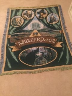 Wizard of Oz Tapestry Blanket 45 x 60 - New