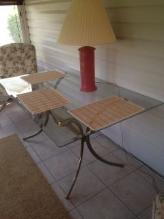 Glass top Dining Room table & 4 chairs