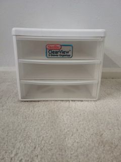 Stackable Sterilite Clearview 3 Drawer Organizer