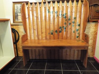 Bench*Beautiful*All Wood*Hand Painted