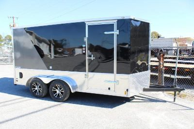 7x14 Enclosed Motorcycle Trailer LOADED