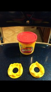 Gently used, Play-Doh with 2 molds/cookie cutters. Asking $1.50