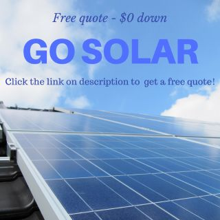 Free solar panels quote with $0 down