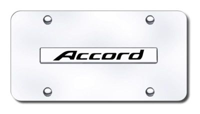 Sell Honda Accord Name Chrome on Chrome License Plate Made in USA Genuine motorcycle in San Tan Valley, Arizona, US, for US $29.87