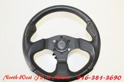 Sell MOMO JET GENUINE LEATHER SPORTS / RACING STEERING WHEEL W/ PRODRIVE QUICK DISCON motorcycle in Sacramento, California, United States, for US $399.00