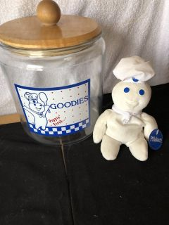 Pillsbury Cookie Jar and Plush Doughboy