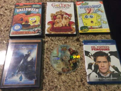 5 DVD's and 1 blue ray