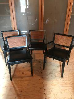 Mid Century Modern Black Dining Chairs