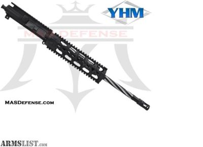 "For Sale: MAS DEFENSE 16"" .223 WYLDE 1X8 STAINLESS MELONITE YHM LIGHTWEIGHT 9.2"" UPPER 5.56, .223 WYLDE, AR15 AR 15 AR-15"