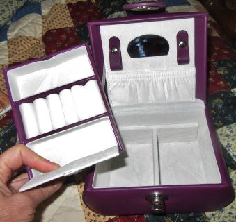 New with tags-Tuscan design travel or compact jewelry box-white velvet inside. I live in Kathleen.