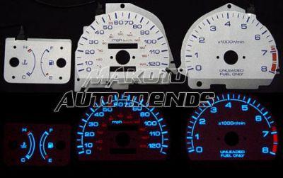 1990-1991 Honda Prelude Dash Cluster White Face Gauges 90-91