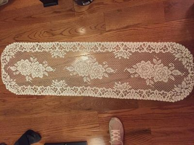 Long doily 51 inches long