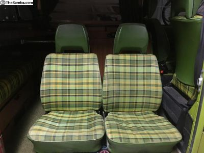 1977 vw campmobile westfalia front and rear seats