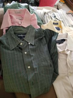 Ralph Lauren and a couple of other nice bands. Men's long Sleeve Shirt Lot