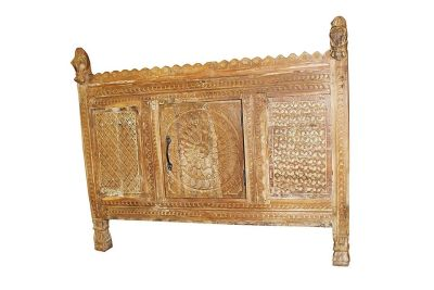 Mogul Interior Antique India Sideboard Damchia Banjara Horse Finials Rustic Designs