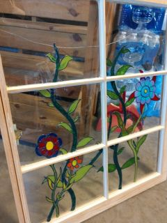 Painted stain glass window