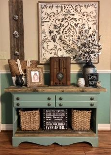 Farmhouse Chic Buffet Sideboard / Entry Console Table