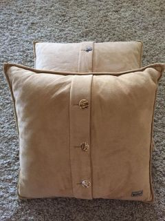 Two woolrich pillows with removable covers