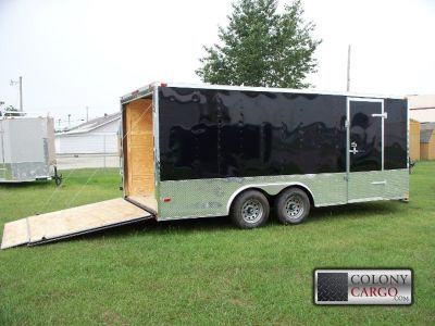 SCREWLESS 6X12 SA ENCLOSED TRAILER W/ V-NOSE & RAMP - 517A