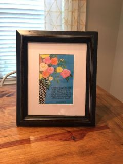 Black Distressed Picture Frame w/ Mat