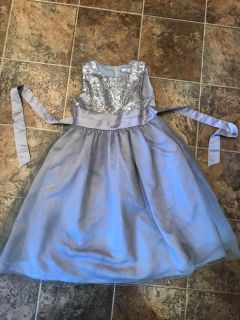 Silver tulle and sequin dress