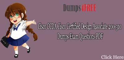 100% verified 200-310 Free Dumps for 200-310 Braindumps