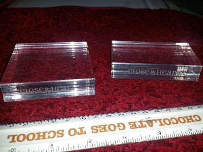 2 New, Clear, Acrylic Blocks for Clear Stamps - Close to my Heart
