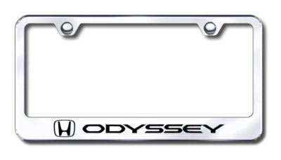 Sell Honda Odyssey Engraved Chrome License Plate Frame -Metal Made in USA Genuine motorcycle in San Tan Valley, Arizona, US, for US $30.98