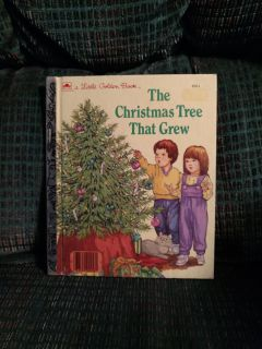 Christmas book.. Christmas Tree That Grew...Vintage Little Golden Book