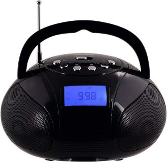NEW: Mini Radio Clock, Bluetooth Speakers MP3 Stereo System Portable with Powerful Bluetooth Speaker