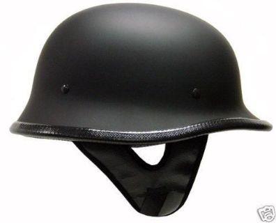 Purchase German Matte/Flat BLACK Motorcycle Half Helmet Chopper Street Bike DOT~XL/XLarge motorcycle in La Verne, California, US, for US $0.99