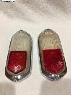 Original early Ghia Hella tail light lense pair