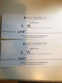 $30 to sozo trading co
