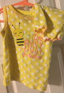 Carters Too busy for bedtime size 18 months pajamas