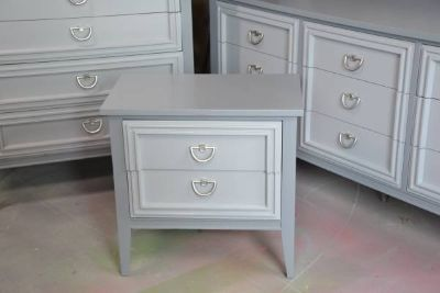 """bedroom set gray""""s solid wood dovetail drawers GREAT SET"""