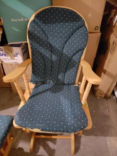 Used glider chair with stool
