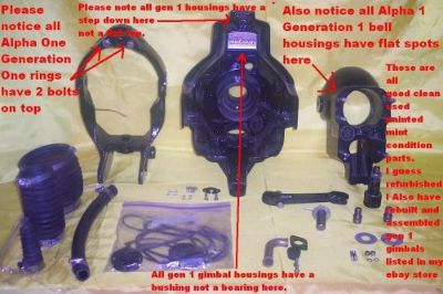 Sell Mercruiser Alpha One Generation Gen 1 Gimbal Transom Assembly Gimble $50.00 off motorcycle in Linden, Tennessee, United States