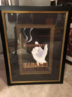 Habanas Quality Cigar Picture w/ frame