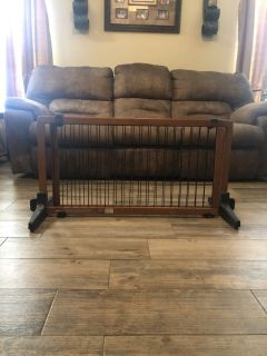 Pet gate/large wooden extendable