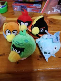 Set of 10 Angry birds plushie finger puppets