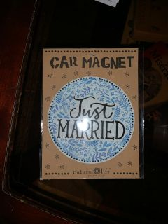 Just married car magnet