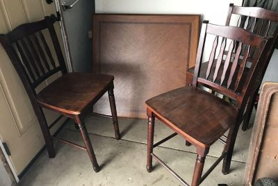 Table & 4 Chairs $30
