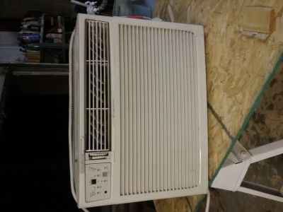 A/C window unit.