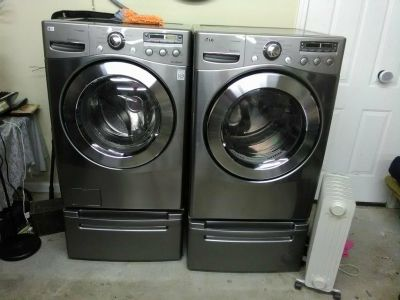 LG front loading washer and drier