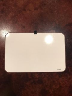 Quartet dry erase board. Ready to hang, never opened the hanging tools. 17x11.