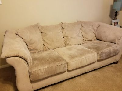 Oversized couch, chair and ottoman